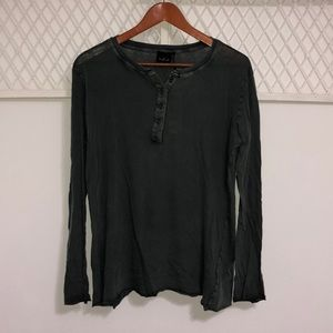 URBAN OUTFITTERS Women's Long Sleeve Henley Top